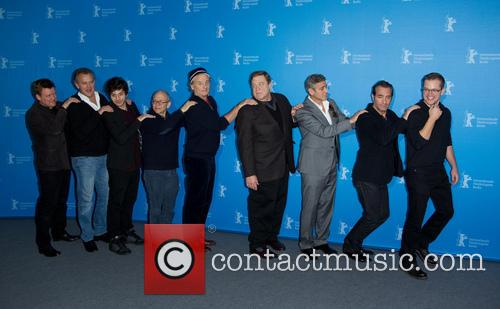 George Clooney, Matt Damon, John Goodman, Jean Dujardin, Bill Murray, Bob Balaban, Hugh Bonneville, Dimitri Leonidas and Justus Von Dohnanyi 9