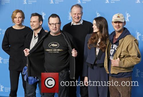Uma Thurman, Christian Slater, Lars Von Trier, Stellan Skarsgard, Stacy Martin and Shia Labeouf 11