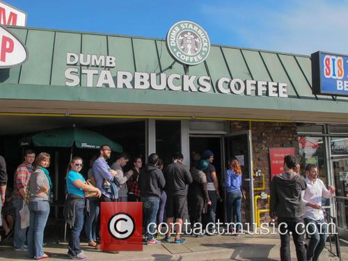 'Dumb Starbucks' coffee shop opens in Los Angeles