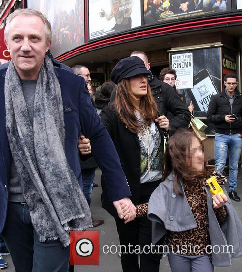 Salma Hayek and family in Paris