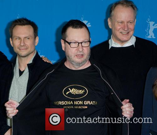 Lars Von Trier, Stellan Skarsgard and Christian Slater