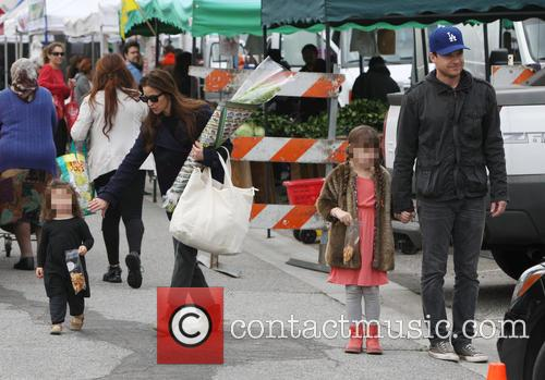 Jason Bateman And Family At Farmers Market