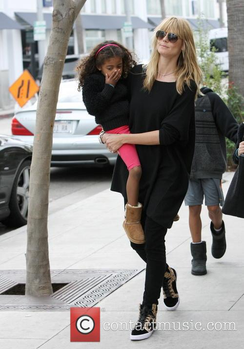 Heidi Klum out for lunch with her family...