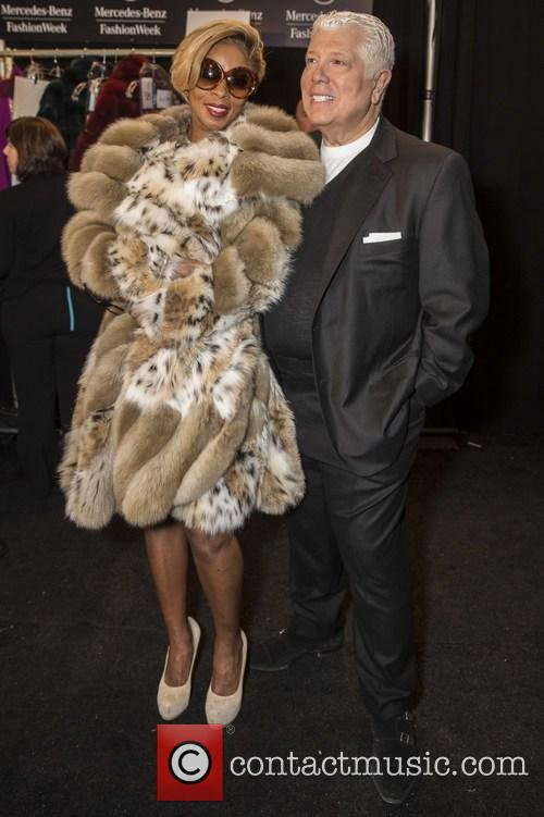 Mary J. Blige, Dennis Basso, lincoln Cener, New York Fashion Week