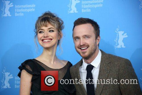 Aaron Paul (r) and Imogen Poots 1