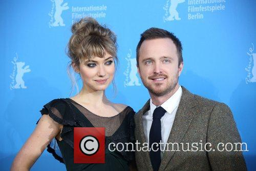 Aaron Paul (r) and Imogen Poots 2