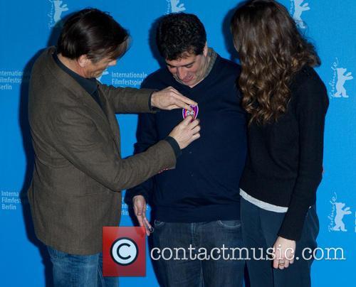 Hossein Amini, Viggo Mortensen and Daisy Bevan 2