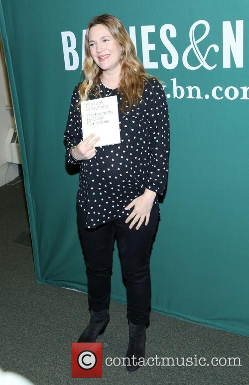 Drew Barrymore at Barnes & Noble for her...