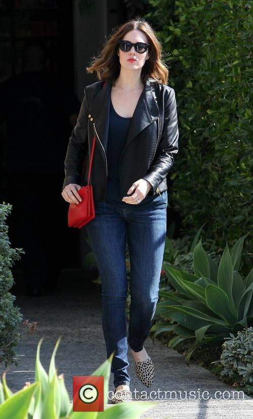 Mandy Moore leaving Andy LeCompte Salon