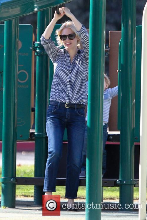 January Jones And Son at Griffith Park