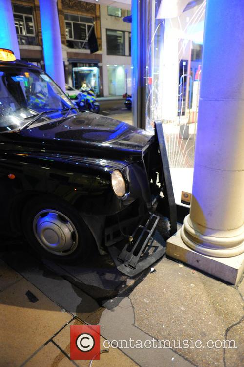 Two London cabs were involved in a collision...