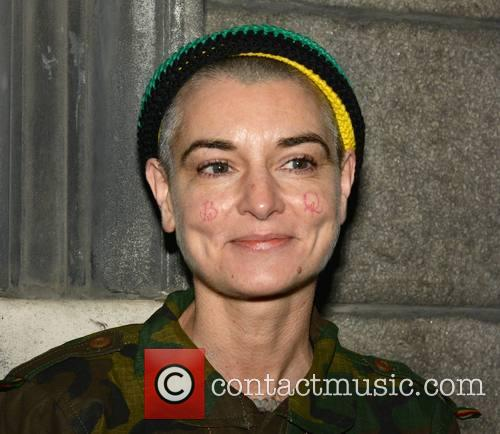 Sinead O'Connor outside Trinity College