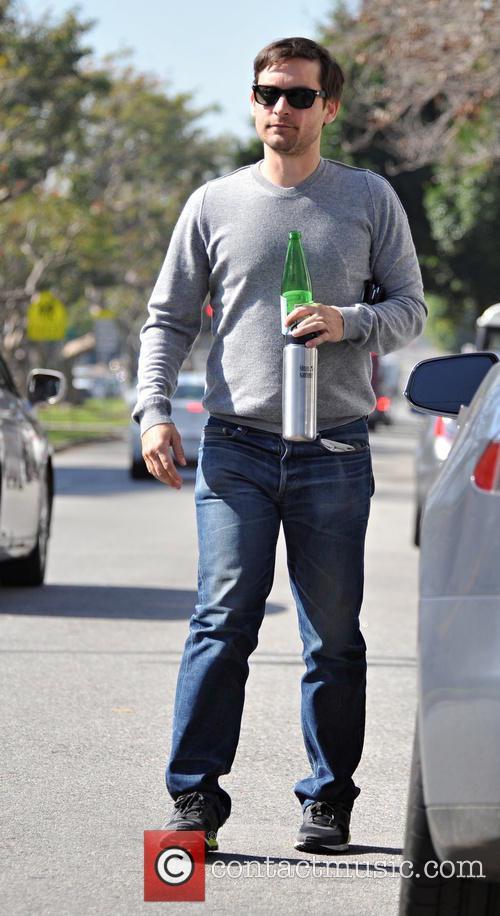 Tobey Maguire, grey, gray, t shirt, sweatshirt, man boobs and moobs 4