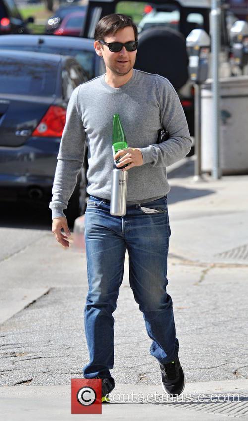 Tobey Maguire, grey, gray, t shirt, sweatshirt, man boobs and moobs 18