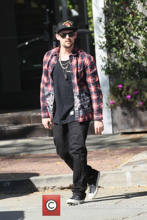 Benji Madden shopping in West Hollywood