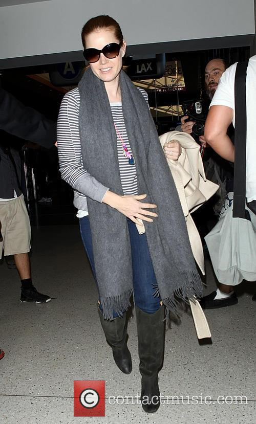 Amy Adams is all smiles at LAX