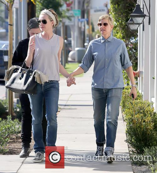 Ellen DeGeneres and wife Portia de Rossi out...