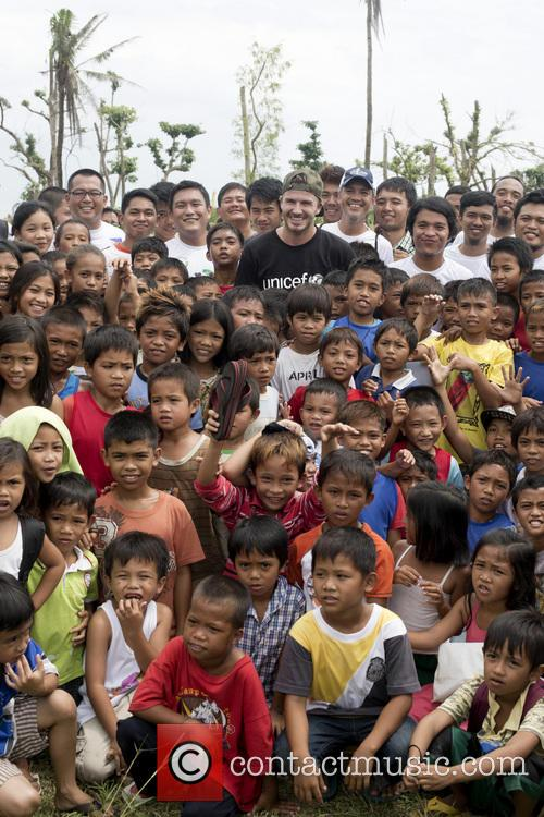 UNICEF Goodwill Ambassador David Beckham visits the Philippines