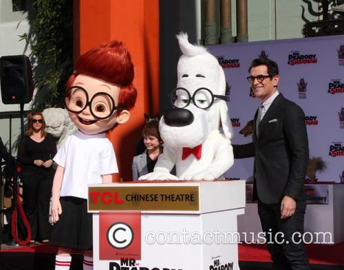 Sherman - Mr Peabody paw print ceremony | 4 Pictures ...