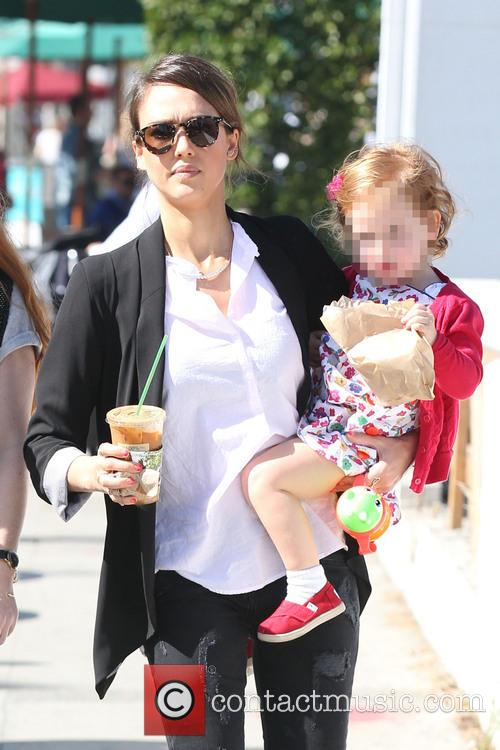 Jessica Alba and daughter Haven out shopping