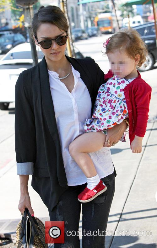 Jessica Alba and daughter Haven in West Hollywood