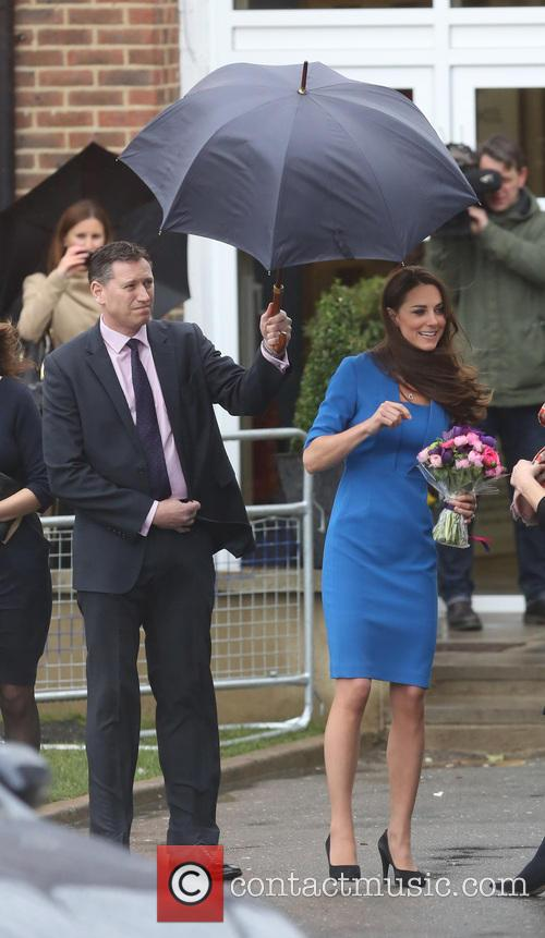 Kate Middleton Leaving Northolt High School