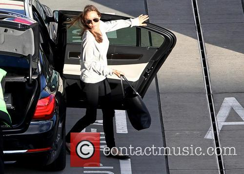 Angelina Jolie arrives London