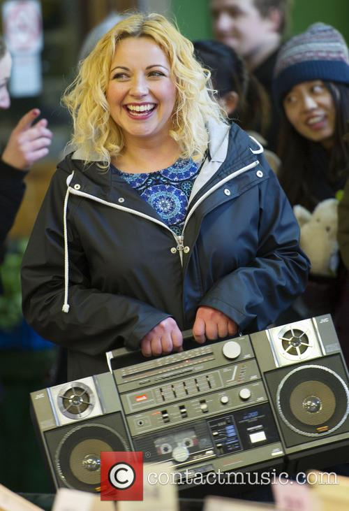 Charlotte Church records a music video for her...