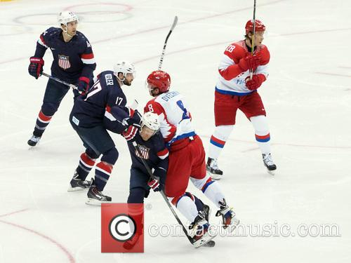 Hockey, Sochi, Winter Olympics, United States and Russia 6