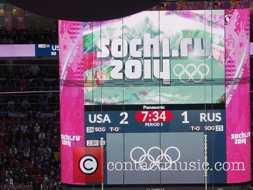 Hockey, Sochi, Winter Olympics, United States and Russia 11