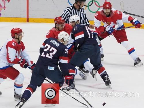 Hockey, Sochi, Winter Olympics, United States and Russia 13
