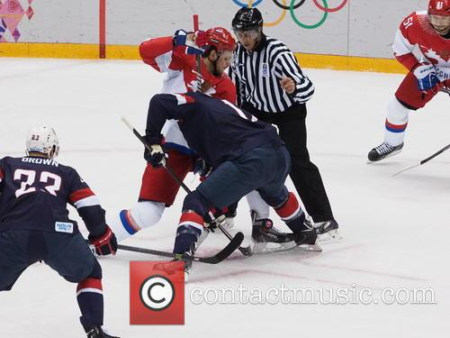Hockey, Sochi, Winter Olympics, United States and Russia 14