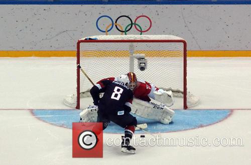 Hockey, Sochi, Winter Olympics, United States and Russia 15