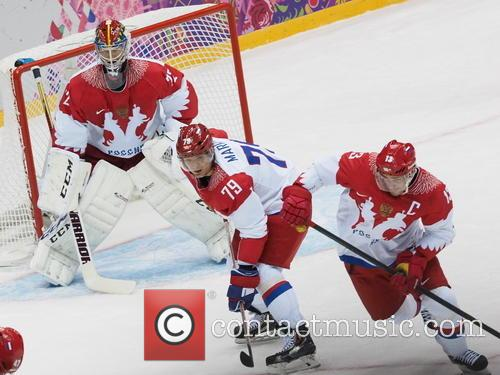 Hockey, Sochi, Winter Olympics, United States and Russia 17