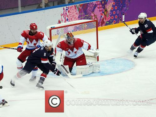 Hockey, Sochi, Winter Olympics, United States and Russia 19
