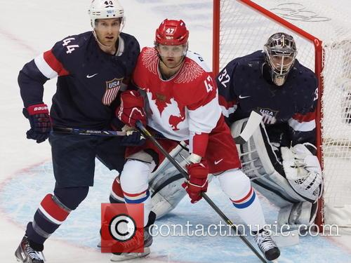 Hockey, Sochi, Winter Olympics, United States and Russia 21