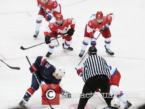 Hockey, Sochi, Winter Olympics, United States and Russia 22