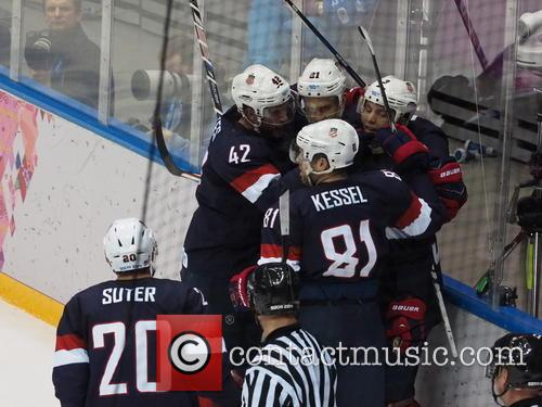 Hockey, Sochi, Winter Olympics, United States and Russia 23
