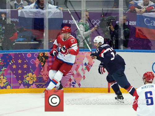 Hockey, Sochi, Winter Olympics, United States and Russia 24