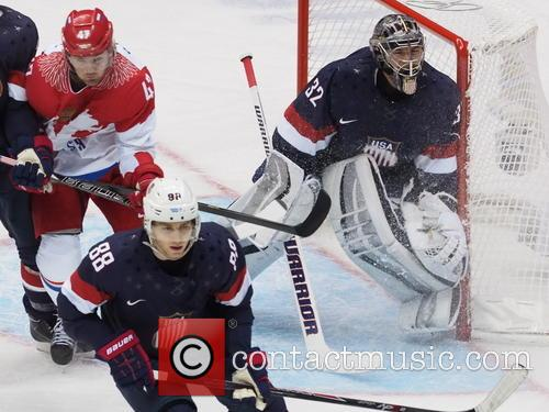 Hockey, Sochi, Winter Olympics, United States and Russia 26