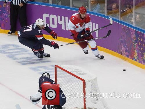 Hockey, Sochi, Winter Olympics, United States and Russia 27