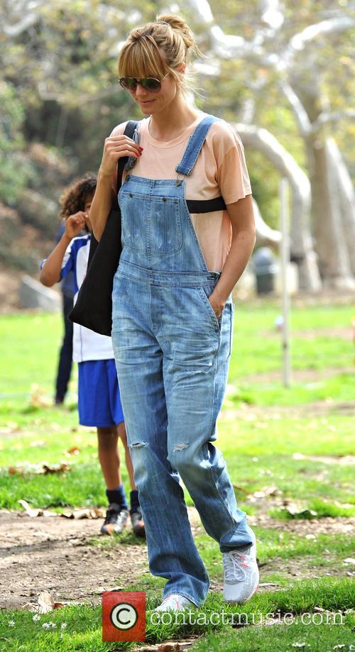 Heidi Klum takes her children to soccer practice