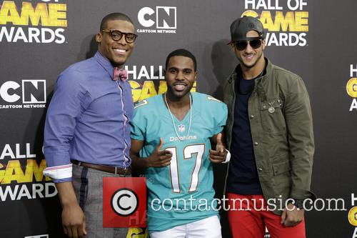 Cam Newton, Jason Derulo and Colin Kaepernick 1