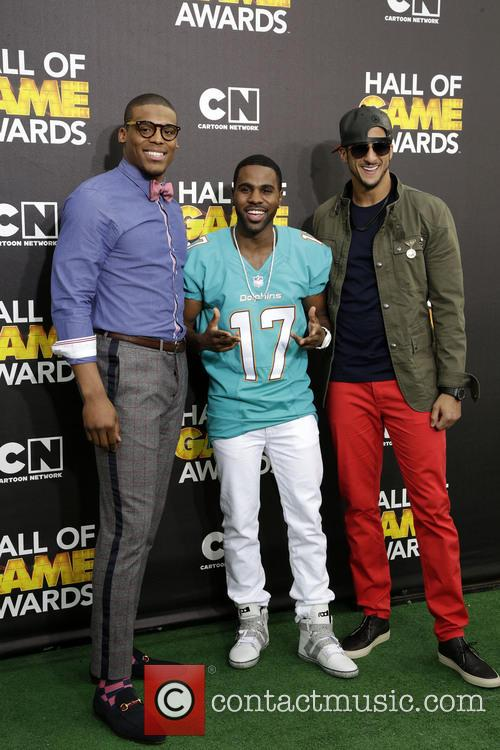 Cam Newton, Jason Derulo and Colin Kaepernick 2