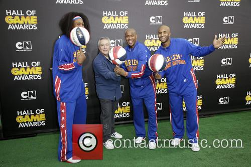 The Harlem Globetrotters and Stuart Snyder