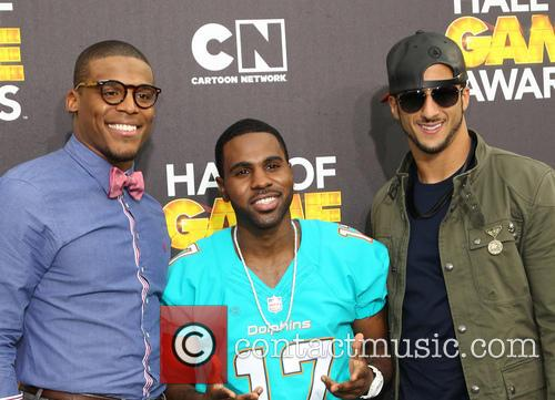 Cam Newton, Jason Derulo and Colin Kaepernick 4
