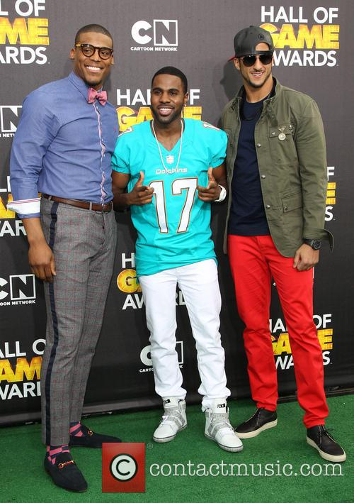 Cam Newton, Jason Derulo and Colin Kaepernick 5