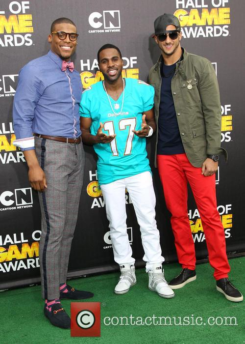 Cam Newton, Jason Derulo and Colin Kaepernick 6