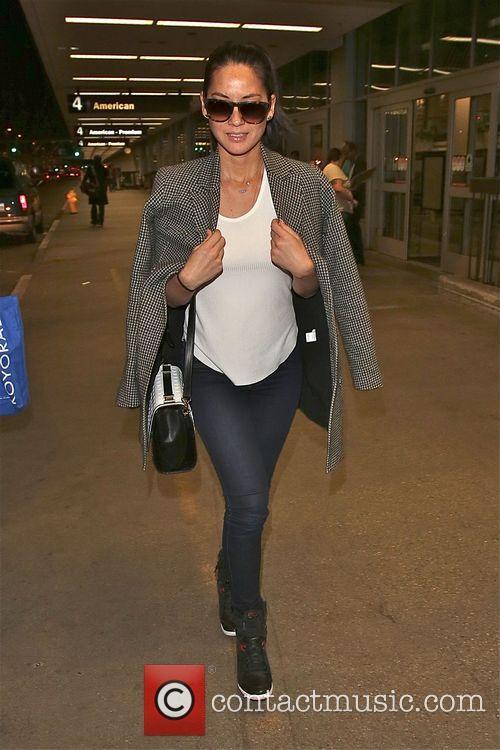 Olivia Mumm makes a early morning arrival at...