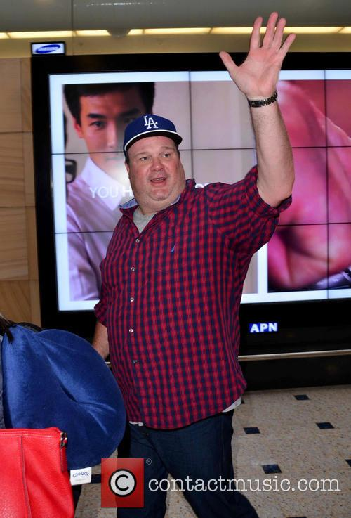 Eric Stonestreet is all smiles as he arrives...